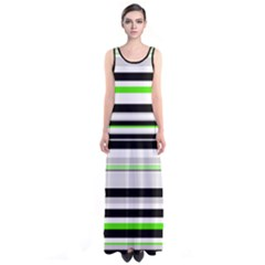 Neon Green Sleeveless Maxi Dress by CoolDesigns