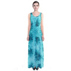 Mint Tie Dye Sleeveless Maxi Dress by CoolDesigns