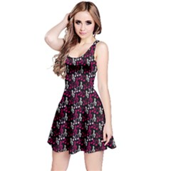 Pink Music Notes Treble Clef Sleeveless Skater Dress