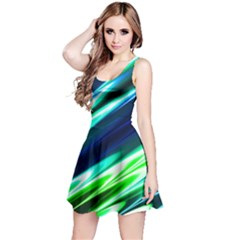 Green & Blue Reversible Sleeveless Dress by CoolDesigns
