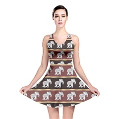 Dark Elephants Ethnic Pattern Reversible Skater Dress by CoolDesigns