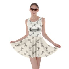 Gray Doodle Birthday Giraffe Pattern Skater Dress by CoolDesigns