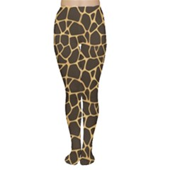 Brown A Brown And Yellow Giraffe Spotted Repeatable Tights by CoolDesigns