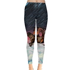 Running Horses Leggings  by CoolDesigns
