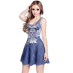 Purple Skull Wings Reversible Sleeveless Dress by CoolDesigns