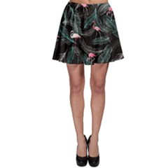 Feather Dark Skater Skirt by CoolDesigns