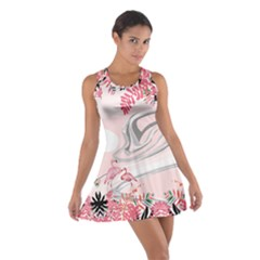 Flamingo Ink 2 Cotton Racerback Dress by CoolDesigns