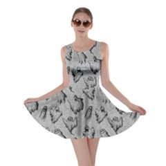Gray Ghost Halloween Skater Dress