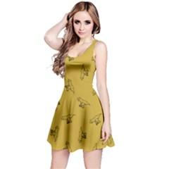 Dark Yellow Tyrannosaurus Sleeveless Dress