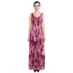 Red Tie Dye Sleeveless Maxi Dress by CoolDesigns