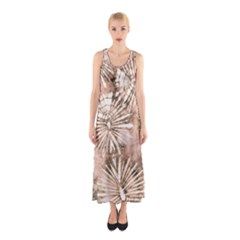 Beige Tie Dye 2 Sleeveless Maxi Dress by CoolDesigns