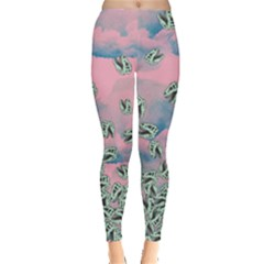 Pink Dinosaur Bone Leggings  by CoolDesigns