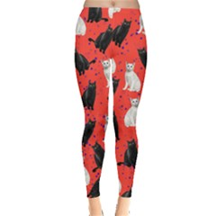 Red Cats Leggings  by CoolDesigns