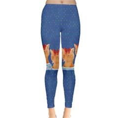 Fox Blue Leggings