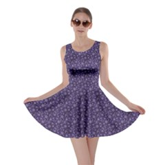 Blue Christmas Elegant Pattern With Snowflakes Skater Dress
