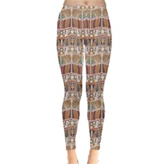 Brown Tribal Pattern In The African Style Women s Leggings