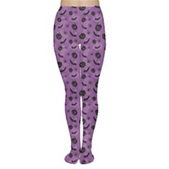 Purple Halloween Pumpkins Bats And Spiders Grungy Women s Tights by CoolDesigns