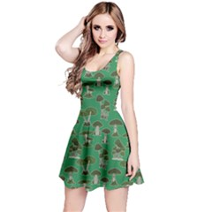 Green Mushroom Pattern Sleeveless Dress by CoolDesigns