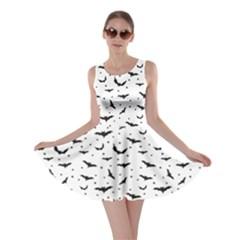 Black Pattern Bats Skater Dress by CoolDesigns