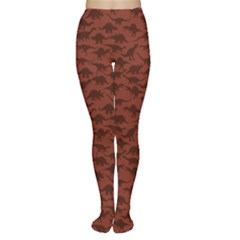 Dark A Pattern With Dinosaur Silhouettes Tights by CoolDesigns
