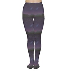 Dark Night Starry Sky Over The Mountains Tights by CoolDesigns