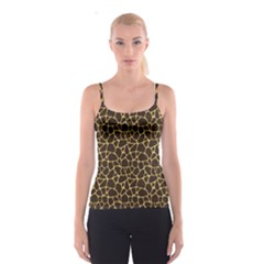 Brown A Brown And Yellow Giraffe Spotted Repeatable Spathetti Strap Top by CoolDesigns