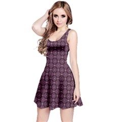 Purple Pattern With Bats And Bones Sleeveless Skater Dress by CoolDesigns