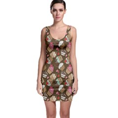 Colorful Pattern Of Tasty Cupcakes Bodycon Dress