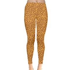 Orange African Style Pattern Leggings by CoolDesigns