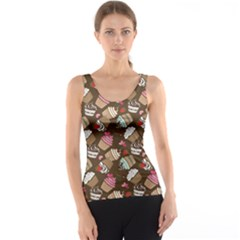 Colorful Pattern Of Tasty Cupcakes Tank Top by CoolDesigns