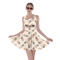 Colorful Matryoshka Russian Wooden Doll Cartoon Pattern Skater Dress