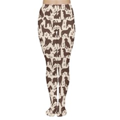 Black Dog Pattern Stok Animals Women s Tights by CoolDesigns