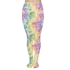 Colorful Pastel Rainbow Petals Women s Tights by CoolDesigns
