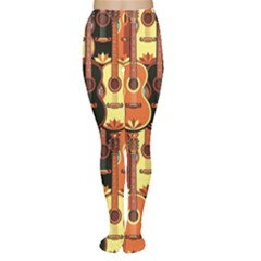 Colorful Pattern With Guitars Women s Tights by CoolDesigns