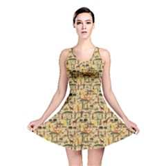 Yellow Ethnic African Reversible Skater Dress by CoolDesigns