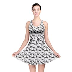Gray Vintage Whale Reversible Skater Dress by CoolDesigns
