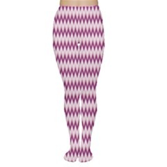 Purple Chevron Pattern Design Popular Women s Tights by CoolDesigns