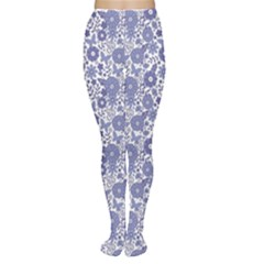 Blue Delft Blue Dutch Flowers Pattern Women s Tights by CoolDesigns