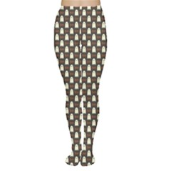 Black Halloween Pattern Layered Women s Tights by CoolDesigns