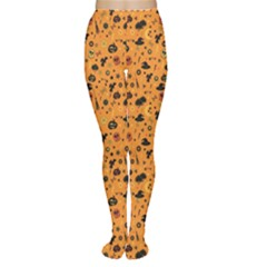 Orange Halloween Pattern Women s Tights by CoolDesigns