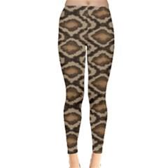 Black Python Snake Skin Pattern Women s Leggings by CoolDesigns