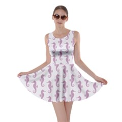Violet Sea Horse Pattern Skater Dress by CoolDesigns