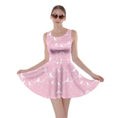Pink Bird Love Gently  Skater Dress by CoolDesigns