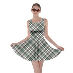 Green Grey And Turquoise Diagonal Pattern Skater Dress by CoolDesigns