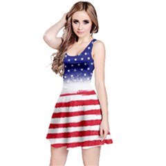 Us Flag 2 Reversible Sleeveless Dress by CoolDesigns