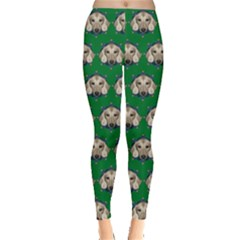 Dachshund Green Leggings