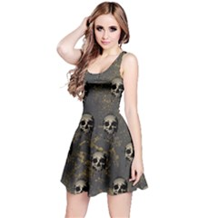 Gray Skull Reversible Sleeveless Dress by CoolDesigns