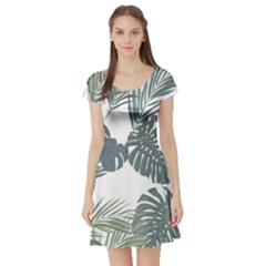 Palm Tree Short Sleeve Skater Dress by CoolDesigns