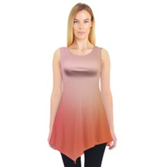 Orange Gradient Tie Dye Tunic Top by CoolDesigns