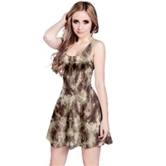 Brown Tie Dye Sleeveless Dress